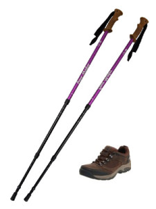 Walking Poles and Shoes